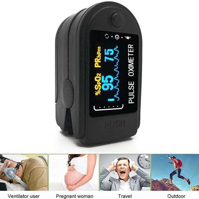 Medical Digital Fingertip Pulse Oximeter OLED Display Blood Oxygen Sensor Measurement Meter for Home Sports De Dedo Oximeter 2
