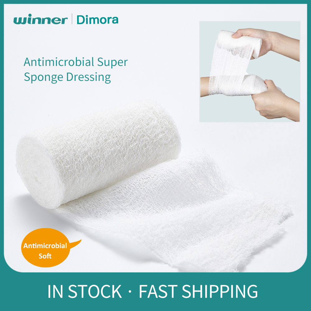 Dimora Medical Gauze Antimicrobial Sponge Wound Dressing Swaps Sterile PHMB First Aid Kit Injury Wrap Gauze Bandage, 1 Roll