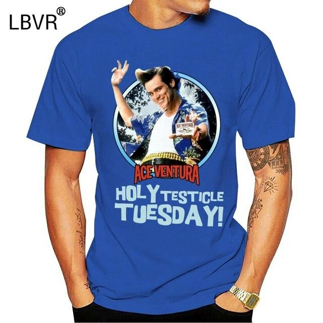 Ace Ventura Pet Detective Men/'s T Shirt Holy Testicle Tuesday Jim Carrey Comedy