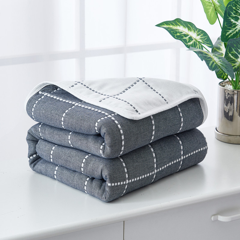 100% Cotton Quilt Blanket Comforter Throw Plaid Air-conditioning Quilt Soft Breathable King Queen AB Side Bedding Home Textile