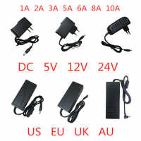1PCS DC 5V 12V 24V 1A 2A 3A 5A 6A 8A 10A DC 5 12 24 V Volt Lighting Transformers LED Driver Power Adapter Supply Strip Lamp