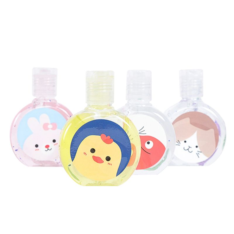 30ml Cartoon Animal Rabbit/Cat Travel Portable Mini Hand Sanitizer Disposable No Clean Waterless Fresh Scented Gel Shampoo
