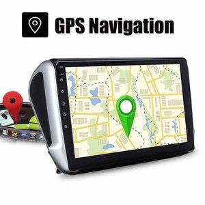 "Image 3 - 1 Din 10.2 ""Android 8.0 Auto Gps Multimedia Speler Stereo Radio Nav Bluetooth Wifi Voor Peugeot 2008 208 2012 2018"