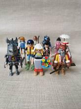 7.5cm playmobil boneca diy cabelo longo princesa cavaleiro meninas e menino polly bolso bloco de construção brinquedos educativos