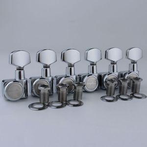 Image 4 - GUYKER 6R/6L Machine Heads no screws Locking Tuning Key Pegs Tuners Chrome