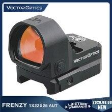 Vector Optics-mira de punto rojo para pistola, Sensor de luz automático, reflejo, colimador de caza, 9mm, 7,62, 1X22x26 AUT
