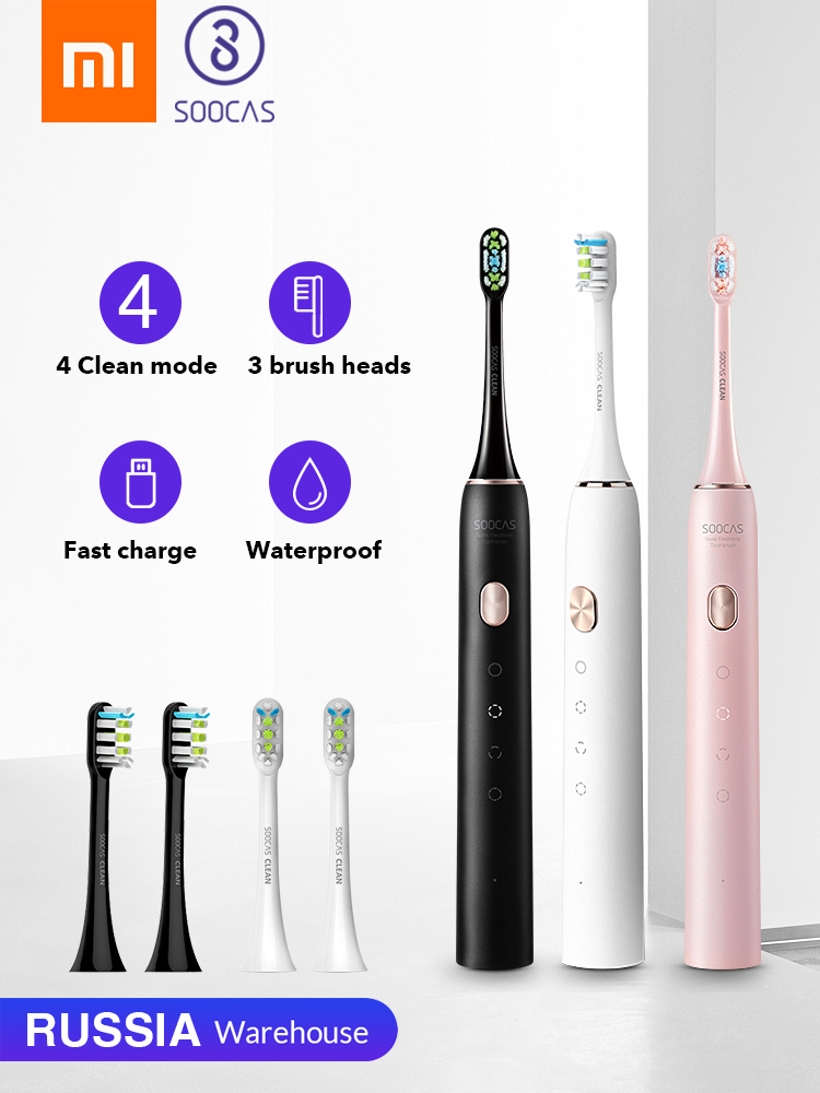 SOOCAS Sonic Toothbrush Xiaomi Mijia Fast-Chargeable Adult Automatic for Upgraded Waterproof