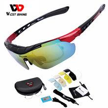 5 Lenzen Fietsen Gepolariseerde Brillen Glazen Fiets Zonnebril Mountain Racefiets Mannen Vrouwen Sport Bril Fietsen Apparatuur