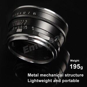 Image 5 - Pergear lente Prime de 25mm F1.8 para todas las Series, para montura E/para M4/3, para cámaras Fuji A6500 A7 A7II A7RII X A2 G3 G2 X T30