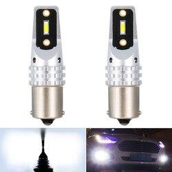 2pcs 1156 P21W BA15S LED Daytime Running Light Bulb Lamp For VW Golf 4 5 6 7 Passat B5 B6 B7 Jetta MK4 MK5 MK6 Polo 6r 1800LM