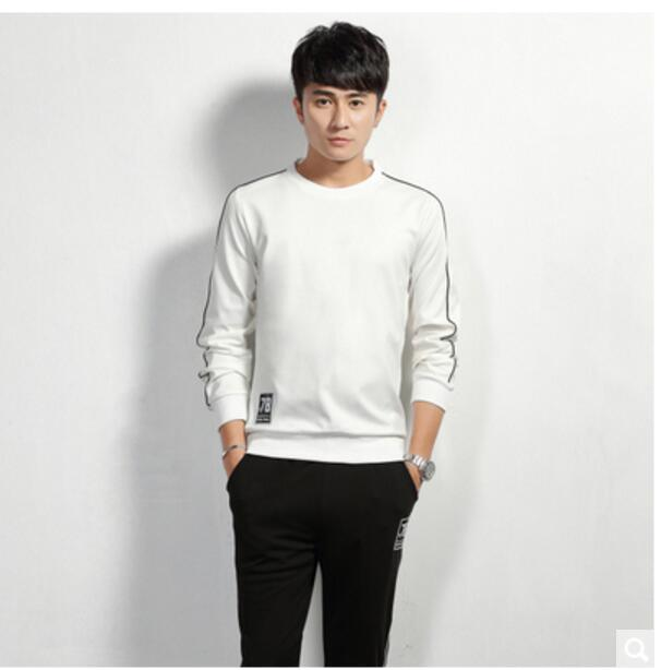 Autumn & Winter Men'S Wear Casual Sports Clothing Men Pullover Hoodie Suit Running Training Suit Two-Piece Set Fashion