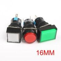Lámpara de botón con luz LED, 10 Uds., 12V, 24V, 220V, iluminación momentáneo, interruptores de botón de 16MM