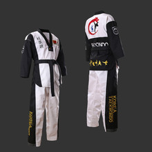 Top Quality Color Taekwondo Uniform For Adults Children Teenagers Beginner Dobok Red Blue Black Tae Kwon Do Clothes WTF Approved mooto wtf dobok taekwondo uniform kukkiwon korea taekwondo dobok with special fabric cooton black v neck