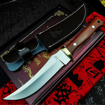 PEGASI  9CR18mov all-in-one straight knife family self-defense knife outdoor camping straight knife hunting knife tactical knife damascus steel outdoor tactical straight knife boutique collection knife high hardness self defense straight knife