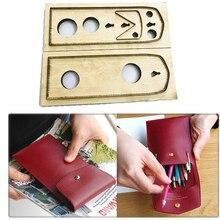 Règle de lame japonaise en acier, poinçon en acier découpé, sac à stylo, moule de découpe étui à crayons, matrices en bois pour Cutter en cuir et artisanat