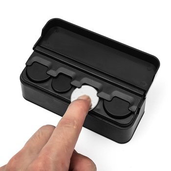 1Pcs Coin Container Change Money Storage Box Portable Plastic Black Coin Holder Car shaped Coin Organizer saving box image