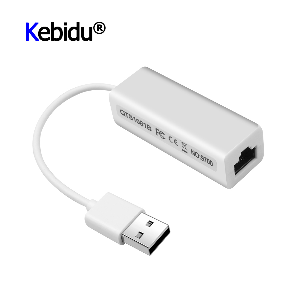 USB2.0 Adapter White USB To Ethernet 10//100 Mbps RJ45 Network Card Lan Adapter