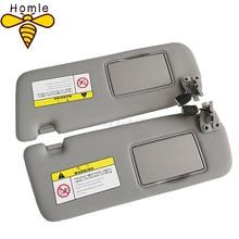 Para hyundai 2005 2006 2007 2008 2009 sonata nf nfc sunshade viseira montagem cinza espelho cosmético 852010r300x6 852020r300x6