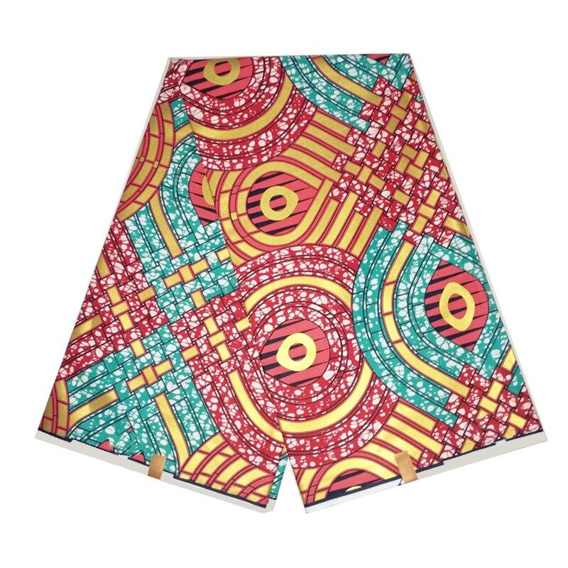 2020 nouveau Design doré cire imprime coton tissu 100% haute qualité Ankara Style nigérian robe matériel pour coudre 6 Yards G-W 139