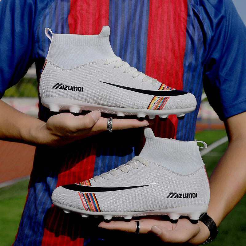 <font><b>Football</b></font> Boots for Men Soccer <font><b>Kids</b></font> <font><b>Indoor</b></font> Sneakers Turf Spike Long Spikes Futsal Cleat Comfortable Waterproof Boots 35-45 image