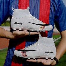 Football Boots for Men Soccer Kids Indoor Sneakers Turf Spike Long Spikes Futsal Cleat Comfortable Waterproof 35-45