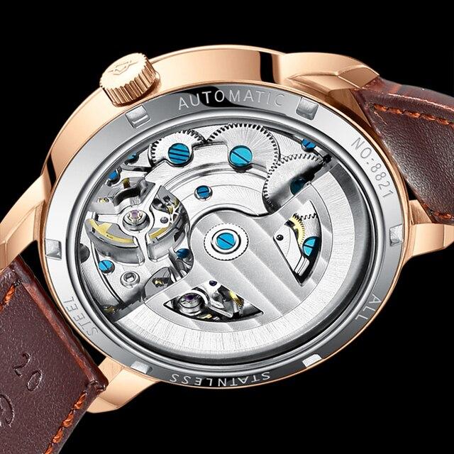 AILANG AAA جودة ساعة مكلفة مزدوجة توربيون سويسرا الساعات أفضل العلامة التجارية الفاخرة الرجال التلقائي ساعة ميكانيكية الرجال 5
