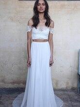 YILIBER Новинка простое свадебное платье без спинки без рукавов дизайн шифон кружево невеста платья принцесса платье плюс размер на заказ