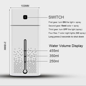 Image 5 - Airความชื้นAtomizer Ultrasonic Diffusersน้ำมันหอมระเหยขนาดใหญ่ความจุเงียบLED Light Night USB Humidifierสำหรับโฮมออฟฟิศ