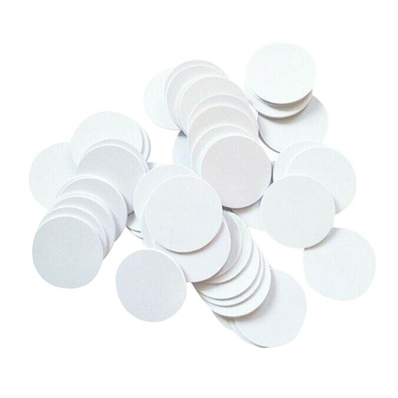 MOOL 100 pièces/lot NTAG215 NFC PVC pièces puce téléphones disponibles étiquettes étiquette 215