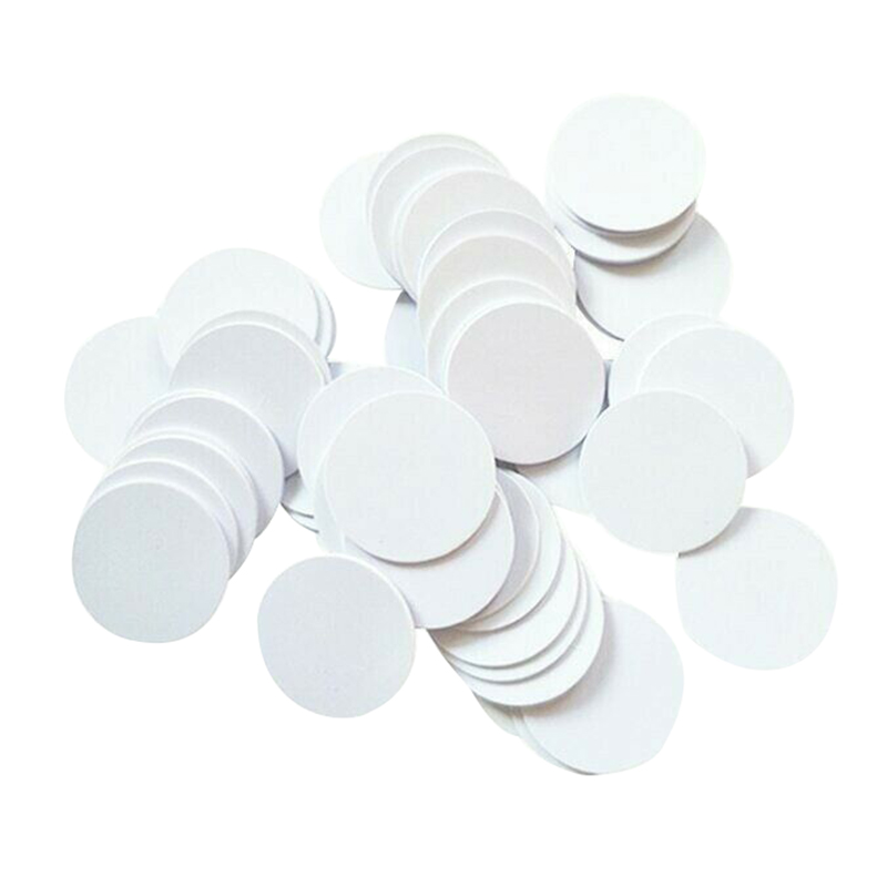 MOOL 100Pcs/Lot NTAG215 NFC PVC Coins Chip Phones Available Labels Tag 215