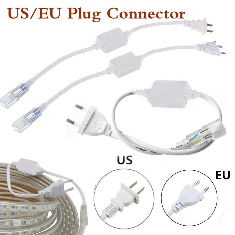 Hbf4b4c844fde43a1bd462f88d6c16e660 - 6mm Cable Strip Light 5050 2835 3014 5630 SMD 2pin Light Bar Plug LED Lamp Belt Plug Accessories US/EU Plug With Needle 220-240V