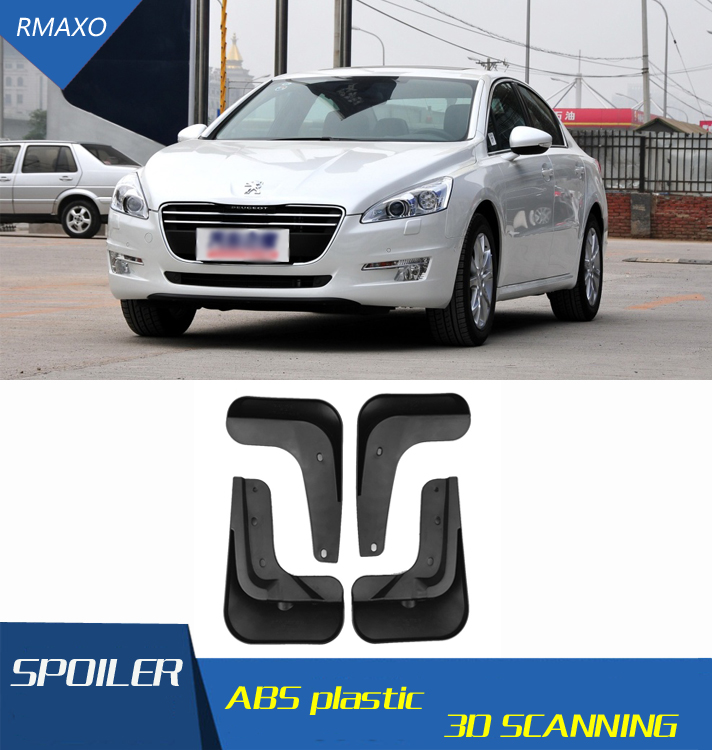 For <font><b>Peugeot</b></font> <font><b>508</b></font> 2011-2014 Mudflaps Splash Guards Front With color and rear <font><b>Mud</b></font> <font><b>Flap</b></font> Mudguards Fender Modified special image