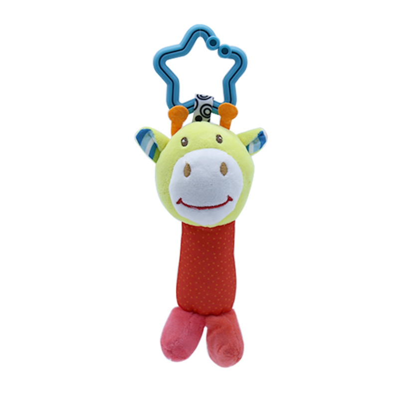 Baby Rattle Toys Cartoon Animal Plush Hand Bell Baby Stroller Crib Hanging Rattles Infant Baby Toy