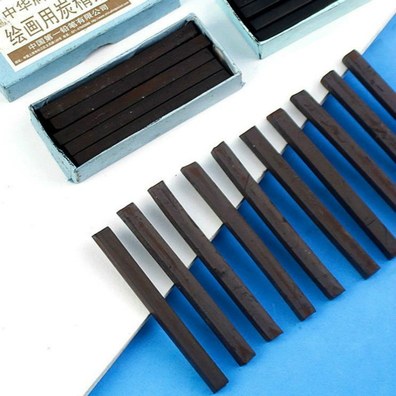 Black Charcoal Bar Water Soluble Brown Black Charcoal Pencil Sketch Charcoal Sticks Art Supplies Carboncillo Para Dibujo