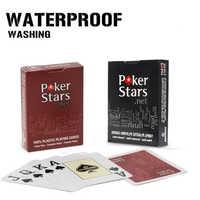 1 компл./лот Техасский Холдем Пластик карты покер карты с тусклой полировкой для друзей