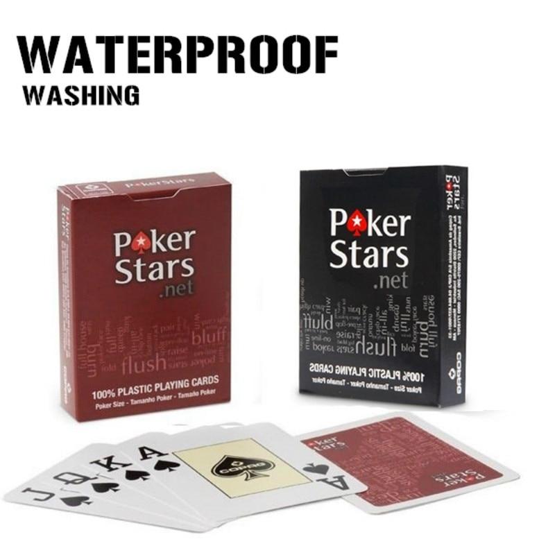 1 Set/Lot Texas Holdem Plastic Card Poker Cards Dull Polish For Friends
