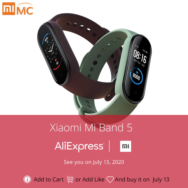 Xiaomi Smart Bracelet Fitness-Tracker Amoled-Screen Heart-Rate Bluetooth Waterproof 4-Color