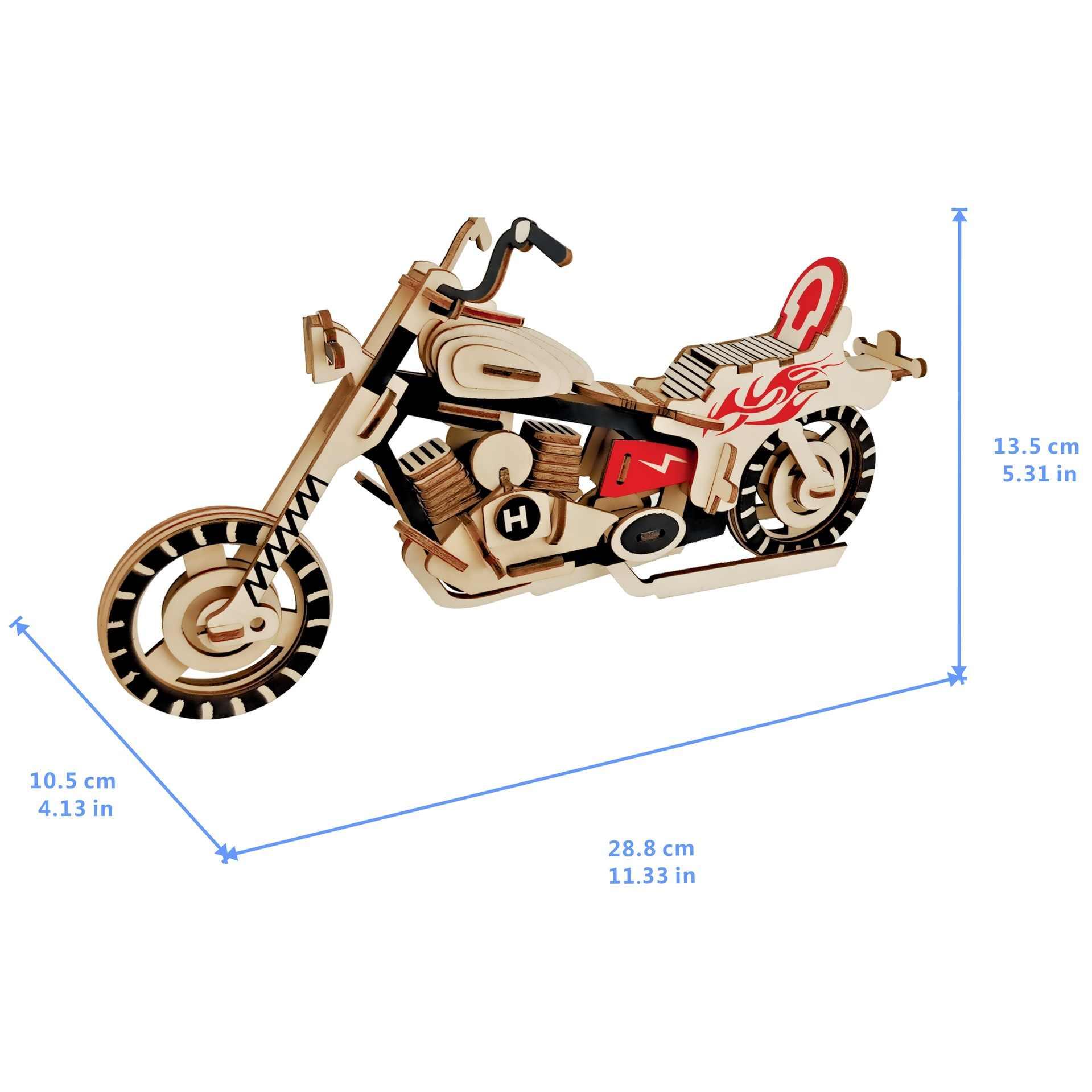Xe Máy DIY 3D Đồ Chơi Xếp Hình Bằng Gỗ Woodcraft Lắp Ráp Bộ Cắt Gỗ Đồ Chơi Quà Tặng Giáng Sinh 3159