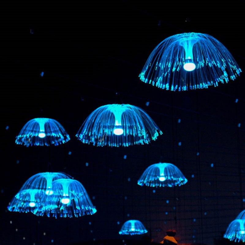 220V LED Jellyfish Fairy Hanging Optical Fiber Light Illumination Lamp LED Holiday Lighting Garland Christmas Lights