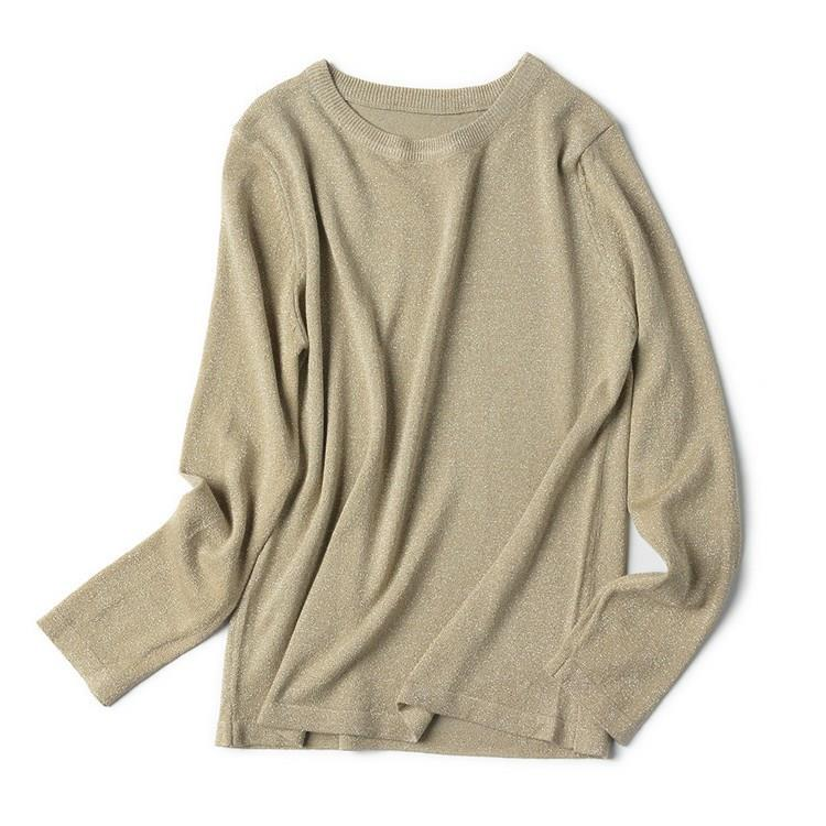 Autumn Winter Basic Women Pullovers Casual Korean Style Thin Knitted Sweater Solid Long Sleeve O-Neck Jumpers Tops