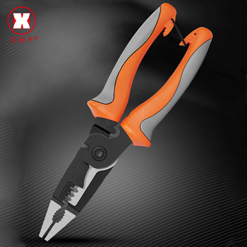 Plier Wire Stripper Wire Plier Cut Line Stripping Multitool Stripper Knife Crimper Crimping Tool Cable Cutter цена 2017