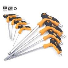 8 шт. Т-образная ручка шестигранный ключ шаровой конец шестигранный ключ гаечный ключ ручной инструмент набор 2 мм-10 мм для Авто велосипеда мотоцикла Reapair