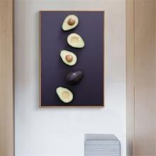 Плакат с авокадо еда фрукты hd печать овощи настенное искусство