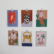 Скандинавские абстрактные фигуры Художественная открытка Настенная