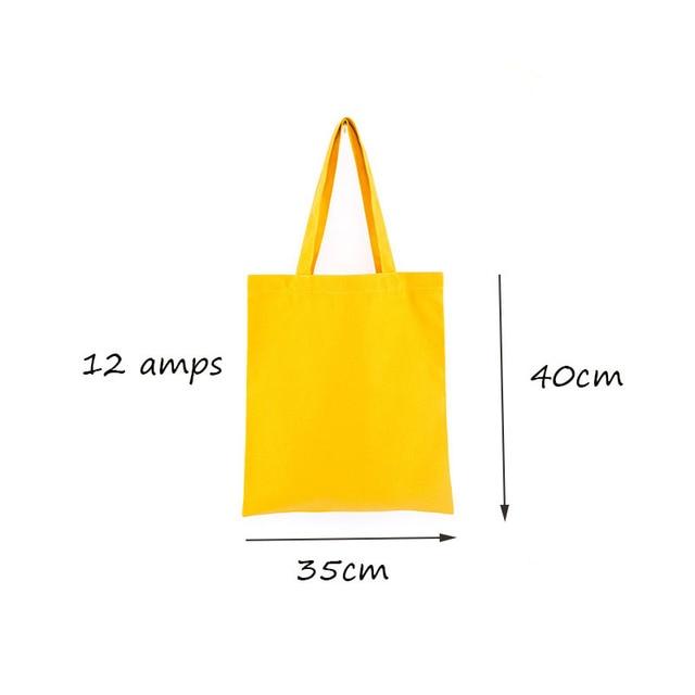 GABWE Unisex Handbags Custom Canvas Tote Bag Print Grocery Daily Use Reusable Eco Cotton Travel Casual Shopping Women Totes 5