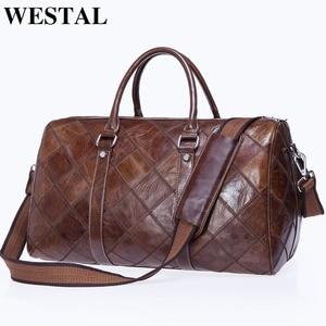 Image 2 - WESTAL גברים של נסיעות תיקי יד מזוודות דובון תיקי עור מזוודות תיק נסיעות מזוודות תיקי גדול/בסוף השבוע תיק