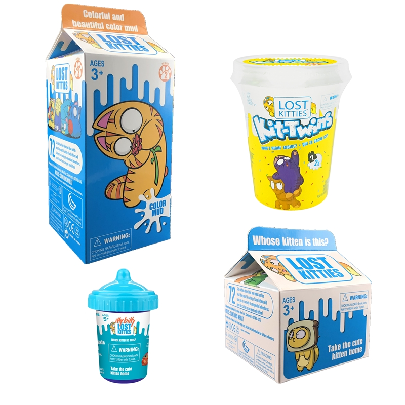 NEW Hot Sales Surprising Toys Milk Box Lost Kitties Cute Kitten With Squishy Slime Toys For Children Christmas Gifts