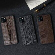 Luxo 100% natural pele de crocodilo caso telefone Fhx 55K para apple iphone 6 s 7 8 plus x xs 11 11pro 11 pro max xr xs max caso