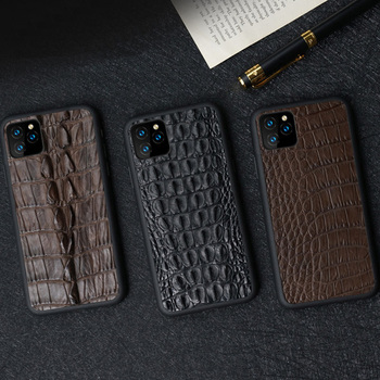 Luxury 100% natural Crocodile skin phone case Fhx-55K for Apple iPhone 6 6S 7 8 8Plus X XS 11 11Pro 11 Pro MAX XR XS MAX case