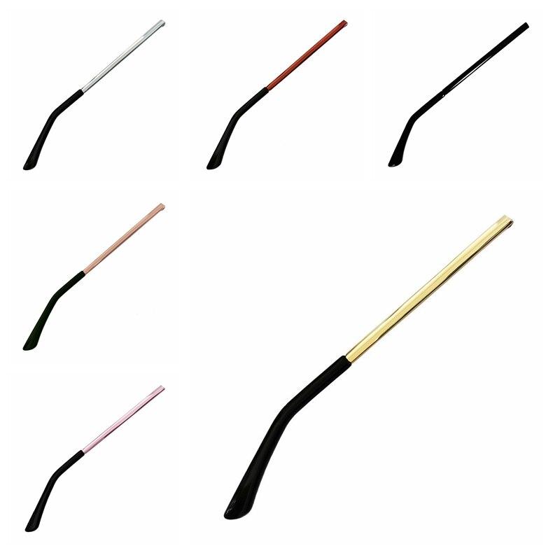 New 1 Pair Replacement Glasses Sunglasses Metal Arm Temple Repair 140mm Multi-color Anti-slip Ear Grip Hook 923-654
